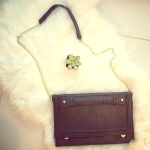 Sam & Libby Oversized Clutch with shoulder Chain